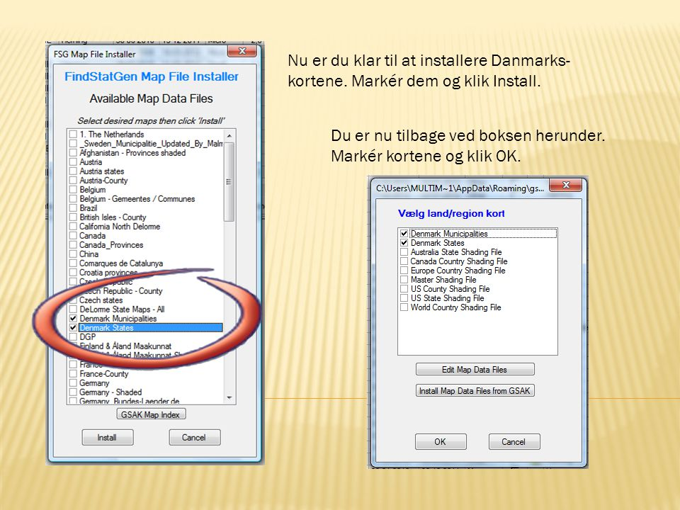 Nu er du klar til at installere Danmarks-