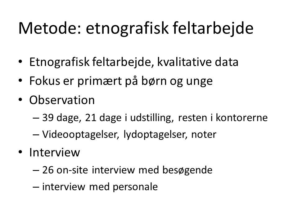 Metode: etnografisk feltarbejde