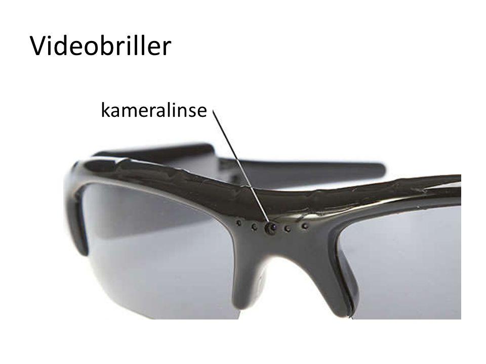 Videobriller kameralinse