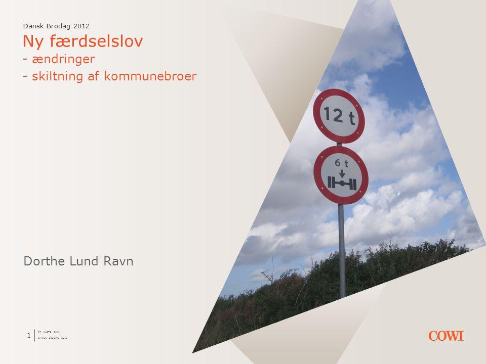 Ny færdselslov - ændringer - skiltning af kommunebroer