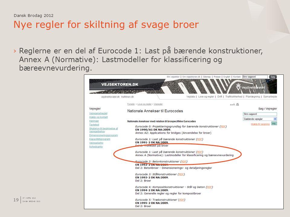 Nye regler for skiltning af svage broer