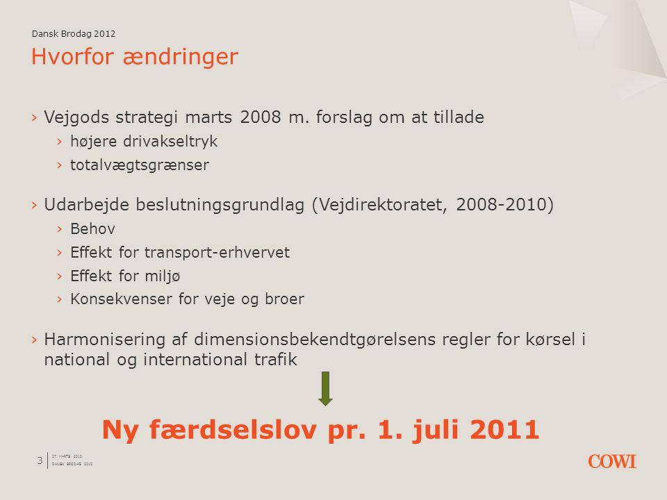 Ny færdselslov pr. 1. juli 2011 Hvorfor ændringer