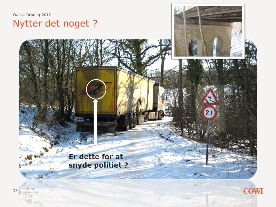 Nytter det noget Er dette for at snyde politiet Dansk Brodag 2012