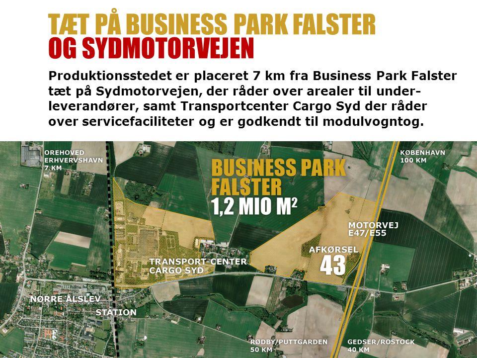 Tæt på Business Park falster og Sydmotorvejen