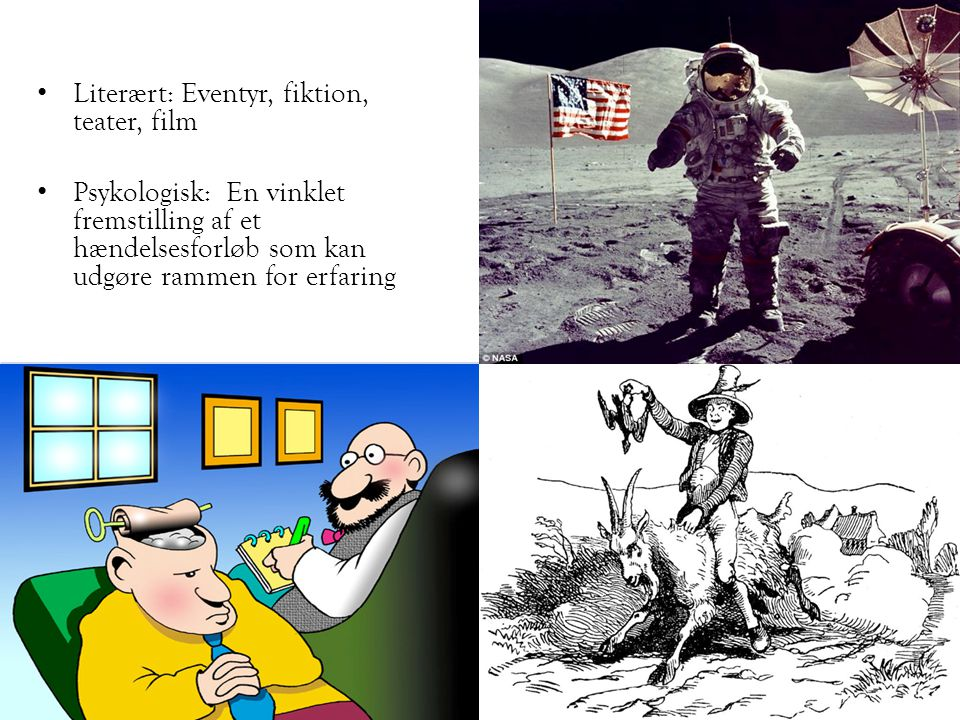 Literært: Eventyr, fiktion, teater, film