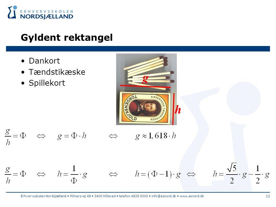 g h Gyldent rektangel Dankort Tændstikæske Spillekort
