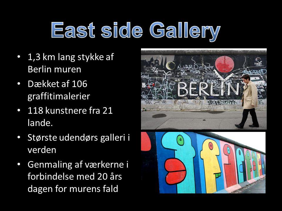 East side Gallery 1,3 km lang stykke af Berlin muren