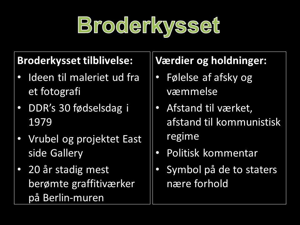 Broderkysset Broderkysset tilblivelse: