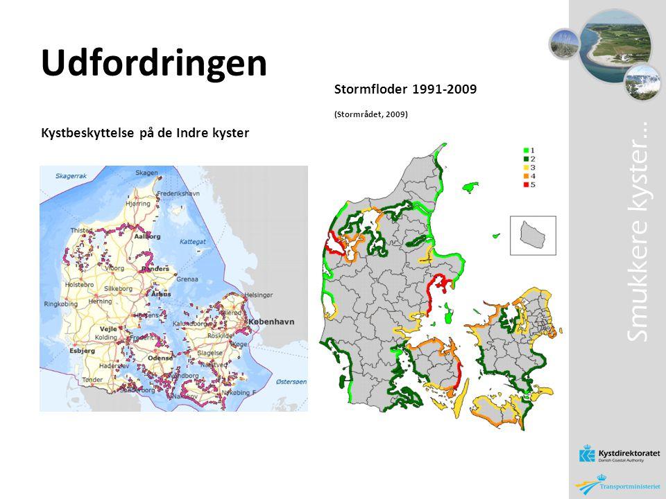 Udfordringen Smukkere kyster… Stormfloder 1991-2009