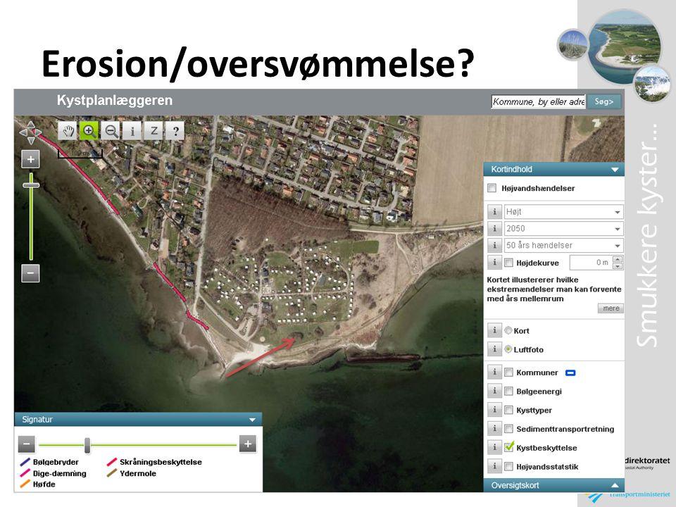 Erosion/oversvømmelse
