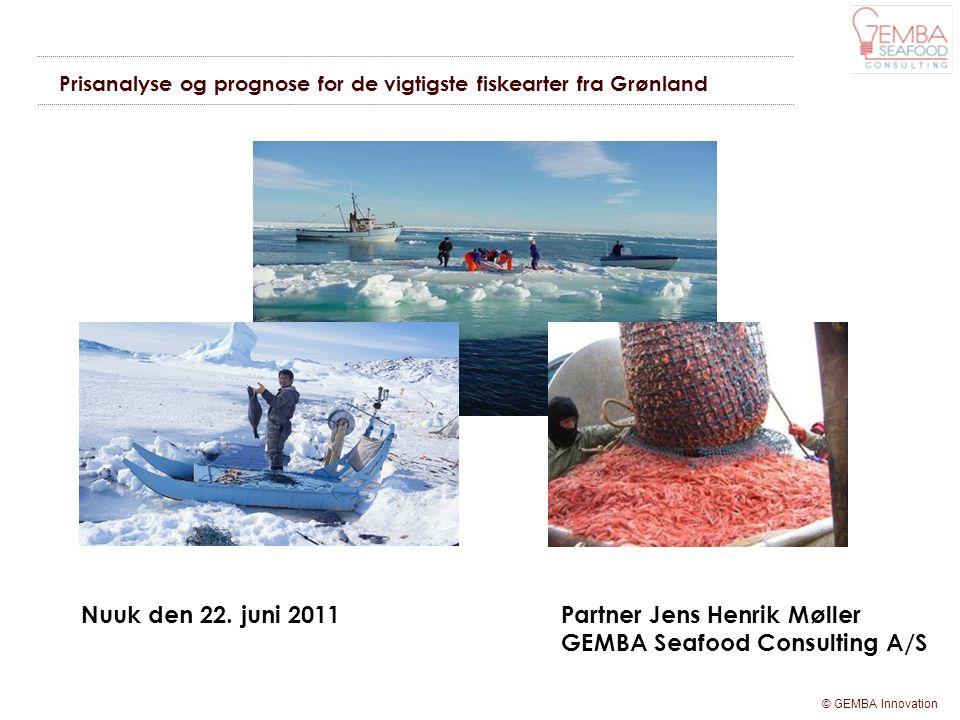 Prisanalyse og prognose for de vigtigste fiskearter fra Grønland