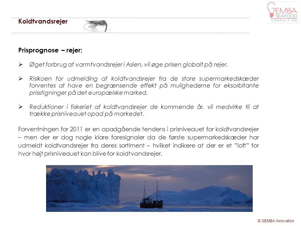 Koldtvandsrejer Prisprognose – rejer: