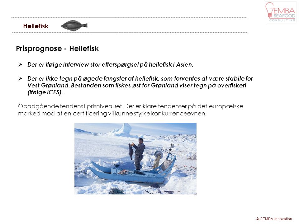 Prisprognose - Hellefisk