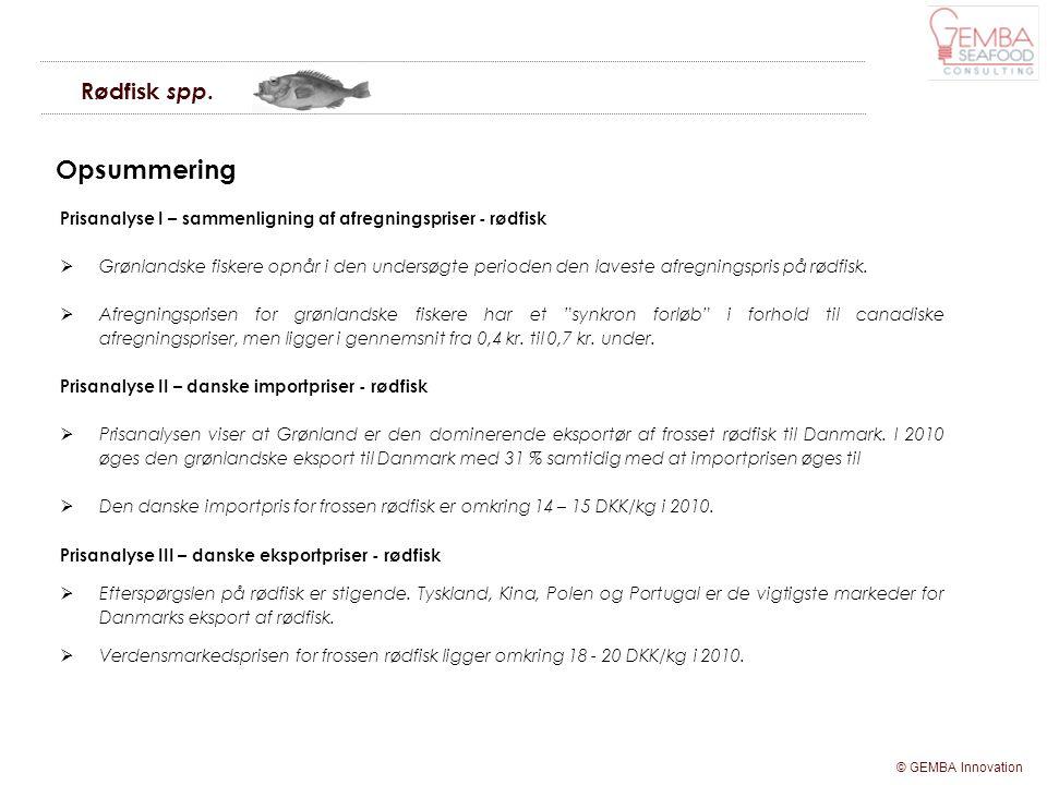 Opsummering Rødfisk spp.