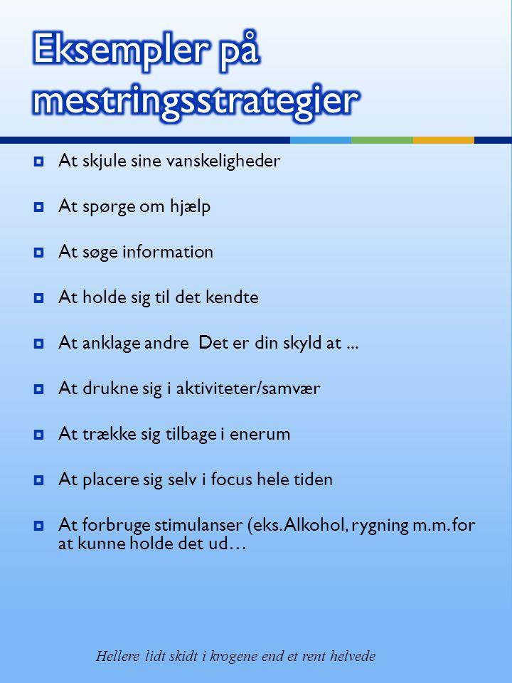 Eksempler på mestringsstrategier