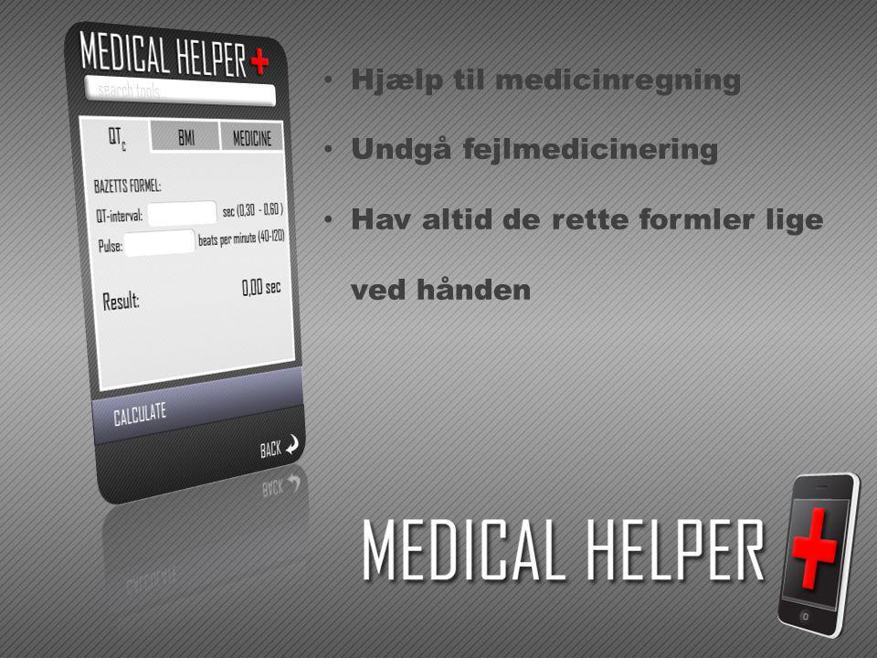 Hjælp til medicinregning