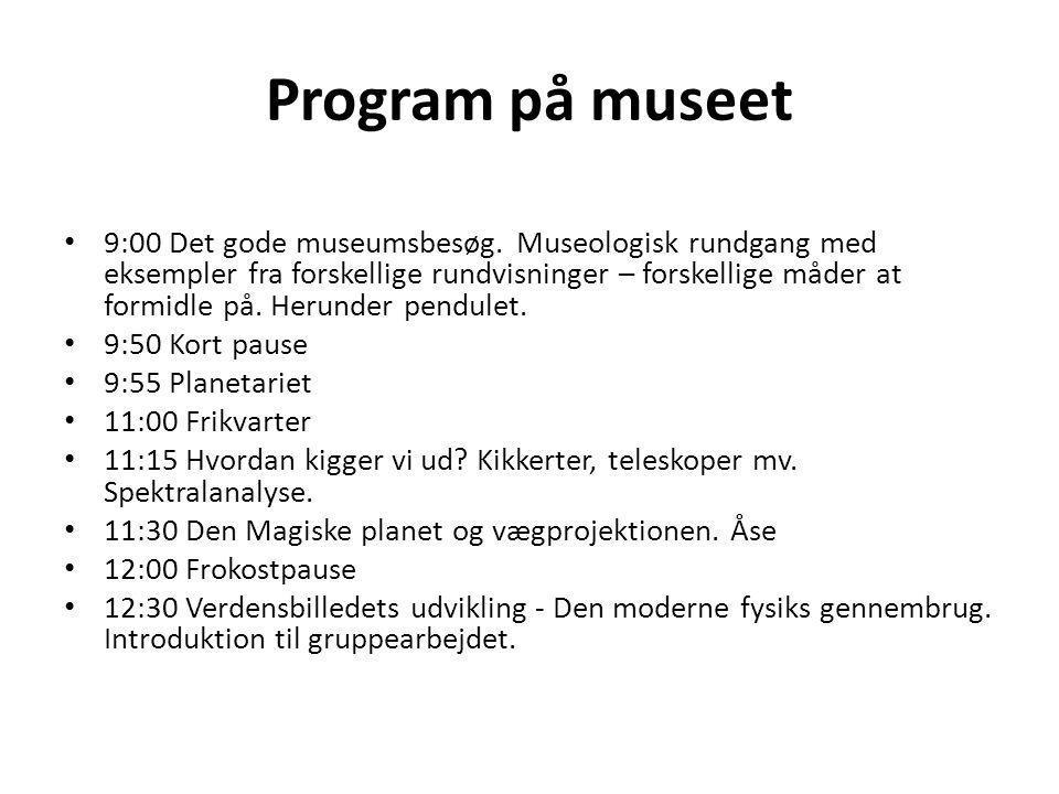 Program på museet