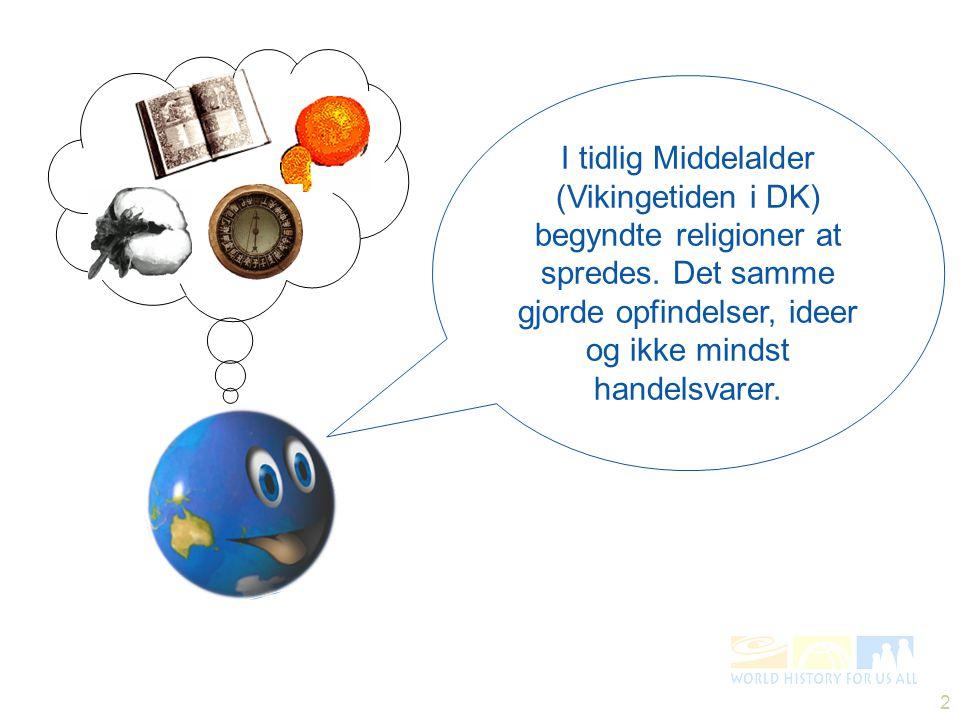 I tidlig Middelalder (Vikingetiden i DK) begyndte religioner at spredes.