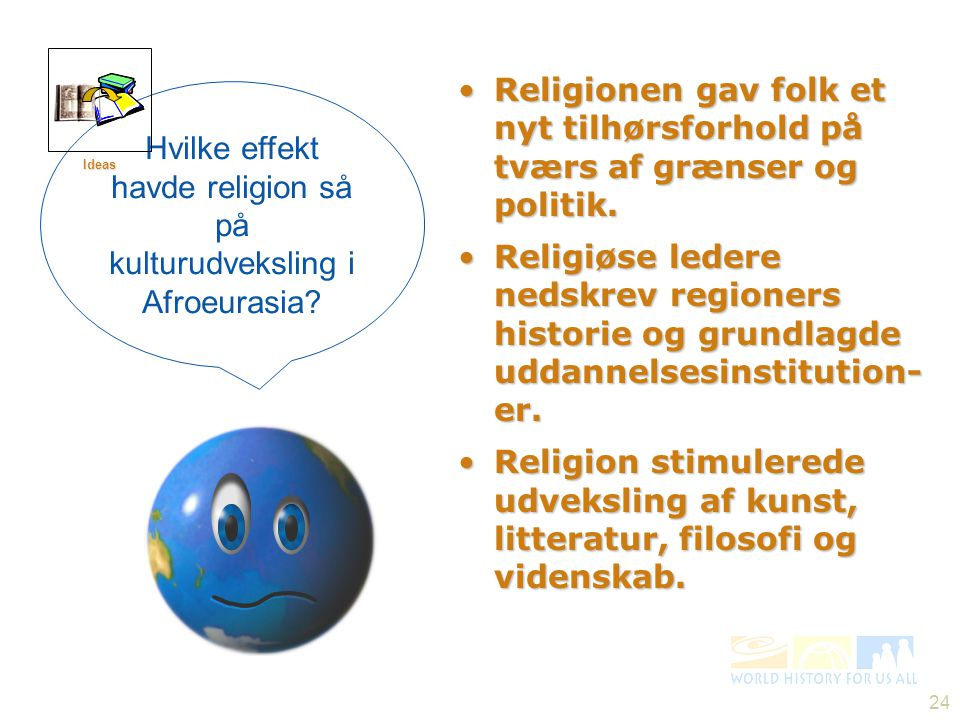 Hvilke effekt havde religion så på kulturudveksling i Afroeurasia