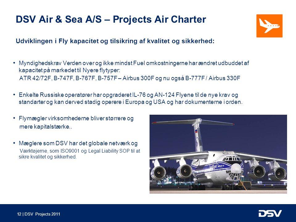 DSV Air & Sea A/S – Projects Air Charter Udviklingen i Fly kapacitet og tilsikring af kvalitet og sikkerhed: