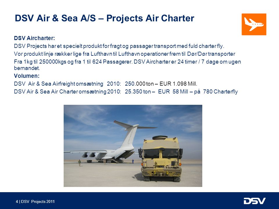 DSV Air & Sea A/S – Projects Air Charter