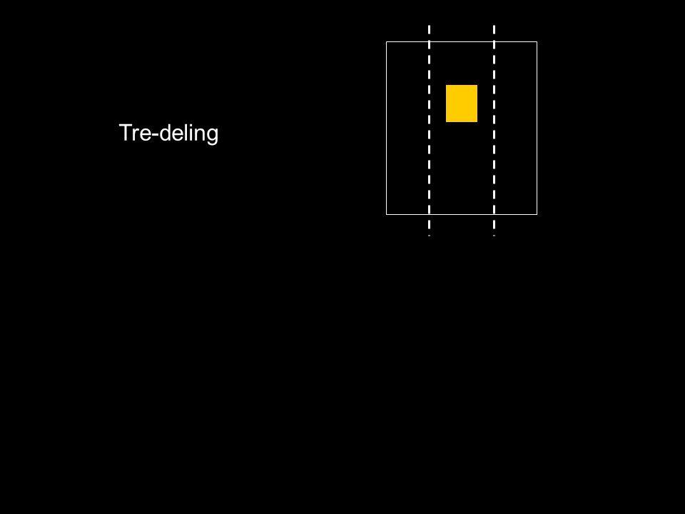 Tre-deling