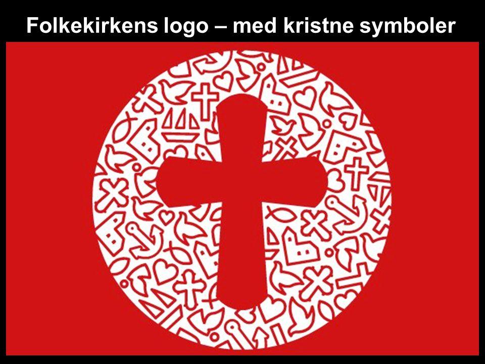 Folkekirkens logo – med kristne symboler