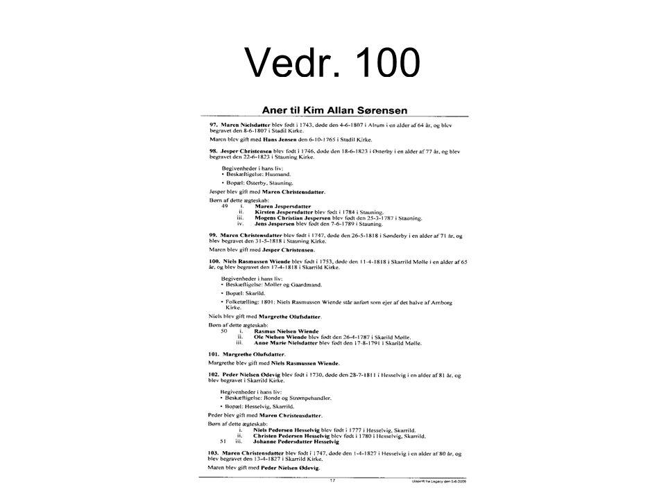 Vedr. 100