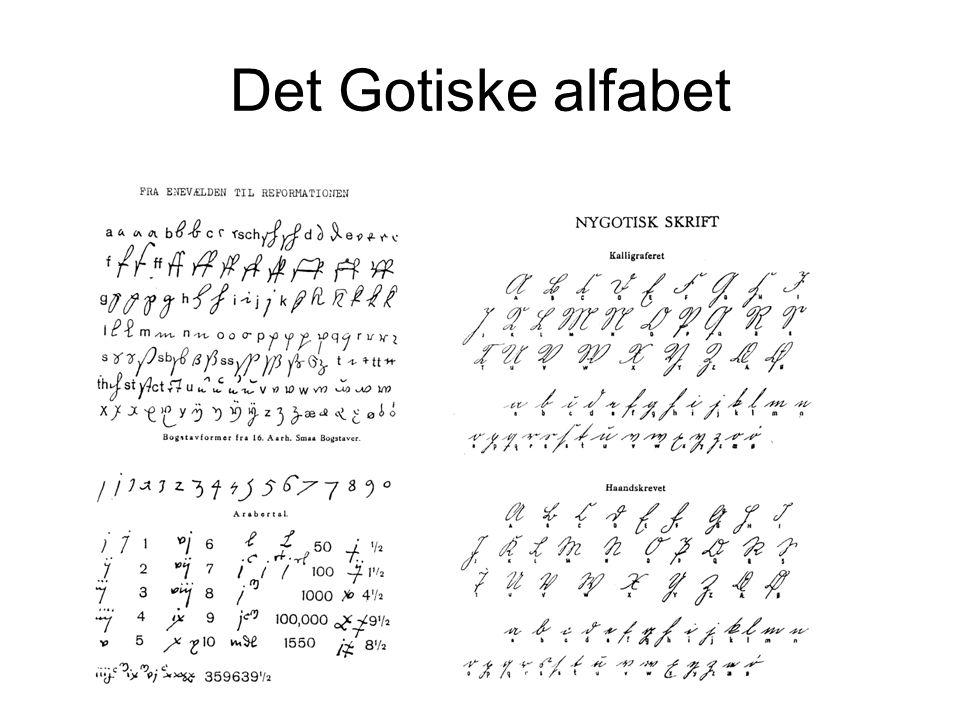 Det Gotiske alfabet