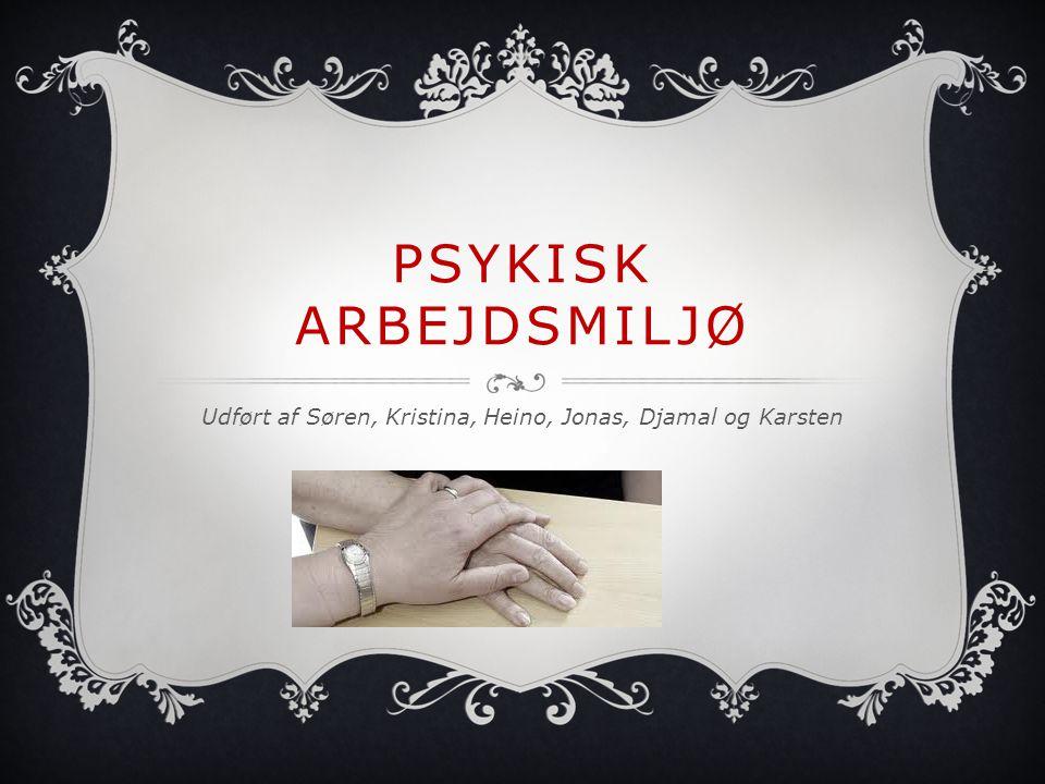 Udført af Søren, Kristina, Heino, Jonas, Djamal og Karsten