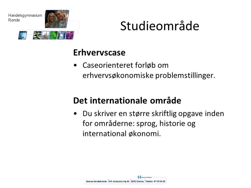 Studieområde Erhvervscase Det internationale område