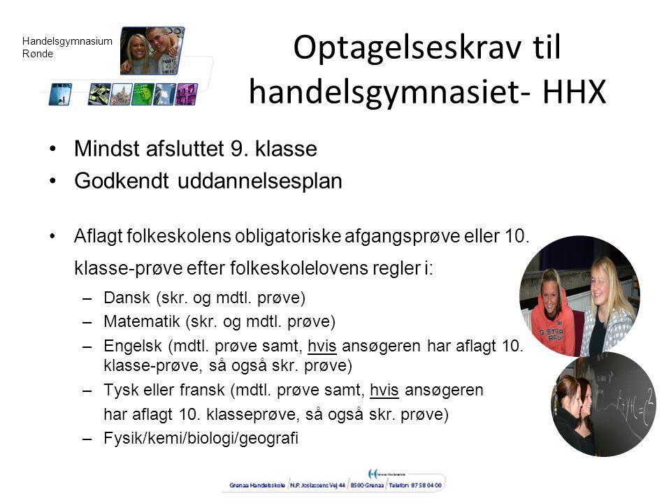 Optagelseskrav til handelsgymnasiet- HHX