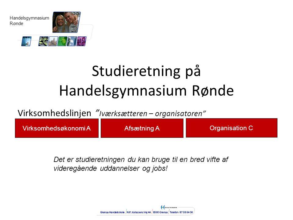 Studieretning på Handelsgymnasium Rønde