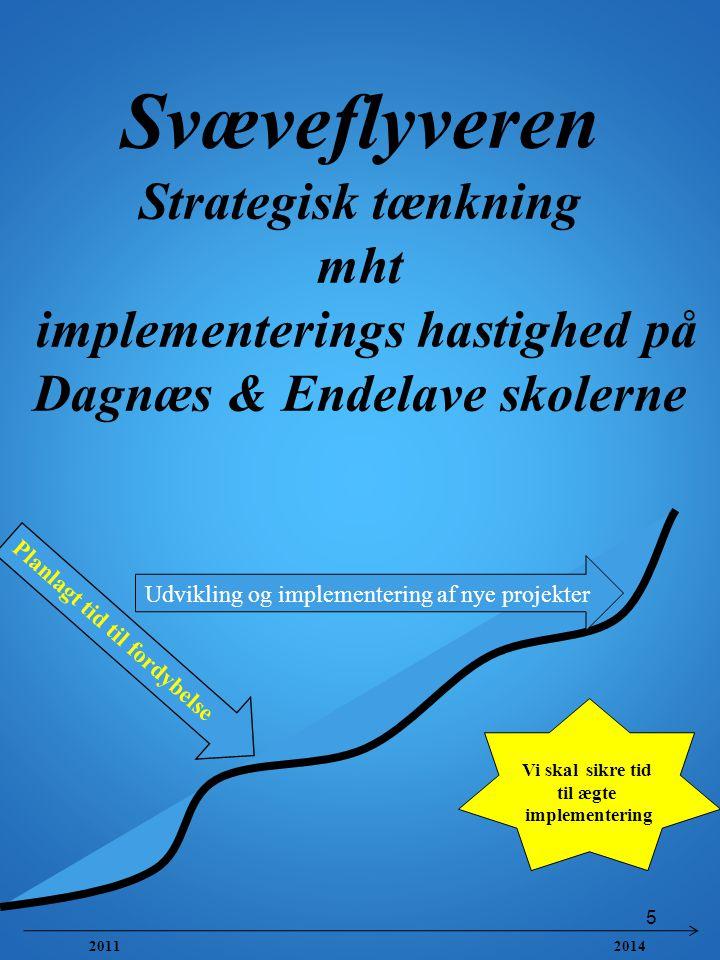 Svæveflyveren Strategisk tænkning mht implementerings hastighed på Dagnæs & Endelave skolerne