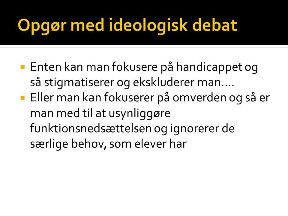 Opgør med ideologisk debat