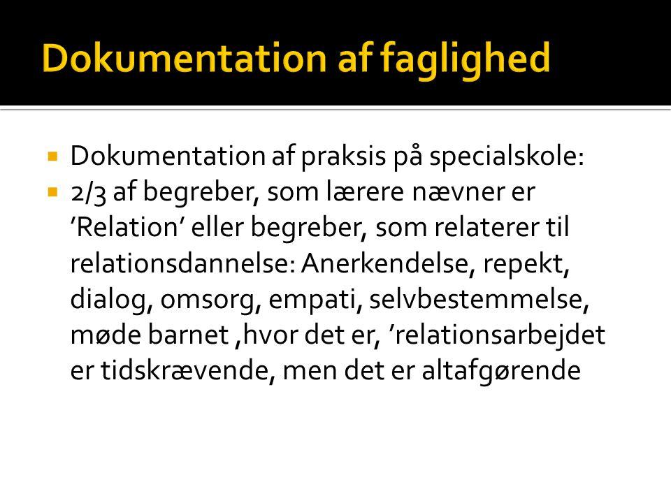 Dokumentation af faglighed