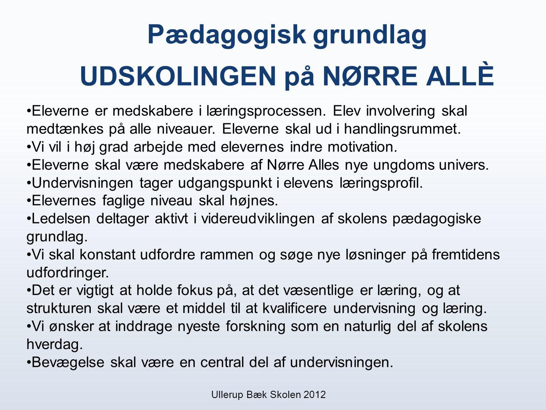 Pædagogisk grundlag UDSKOLINGEN på NØRRE ALLÈ