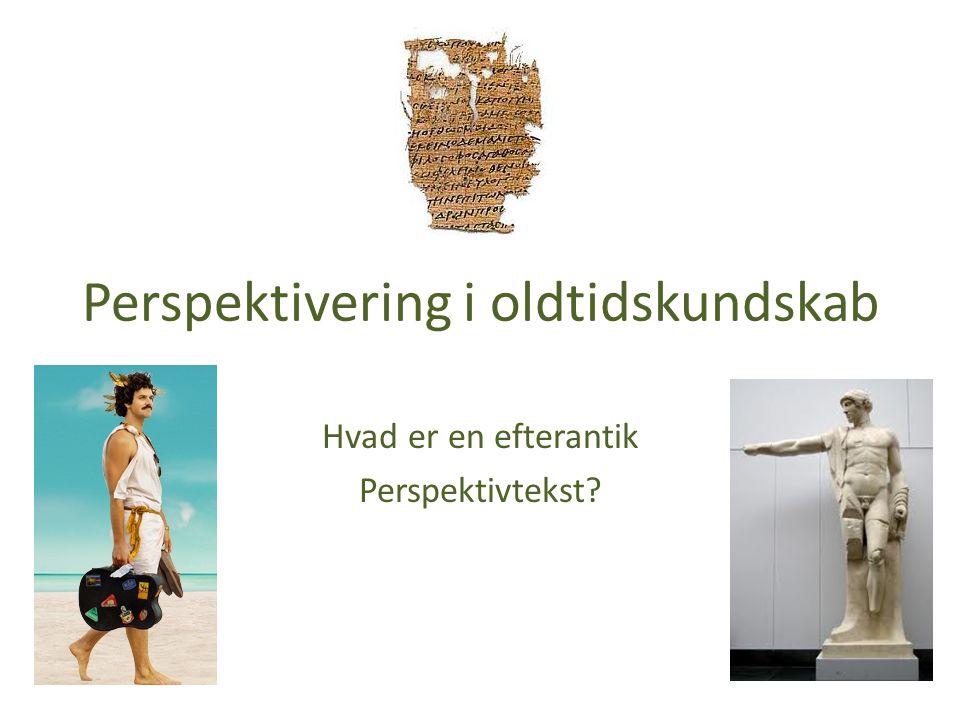 Perspektivering i oldtidskundskab