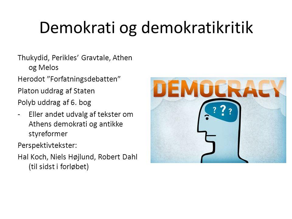 Demokrati og demokratikritik