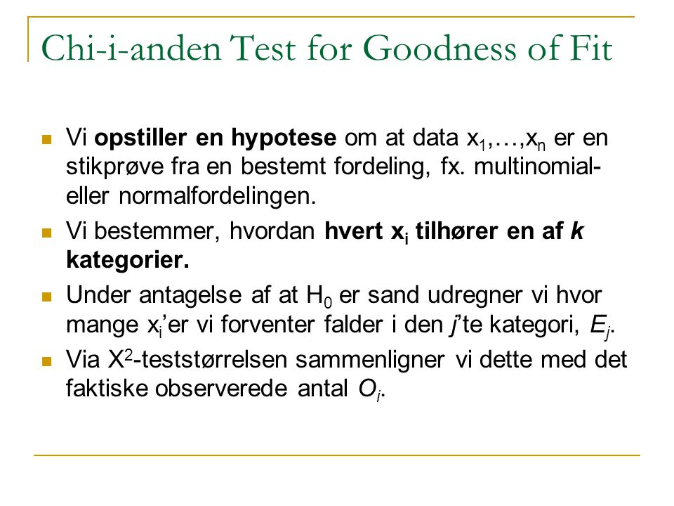 Chi-i-anden Test for Goodness of Fit
