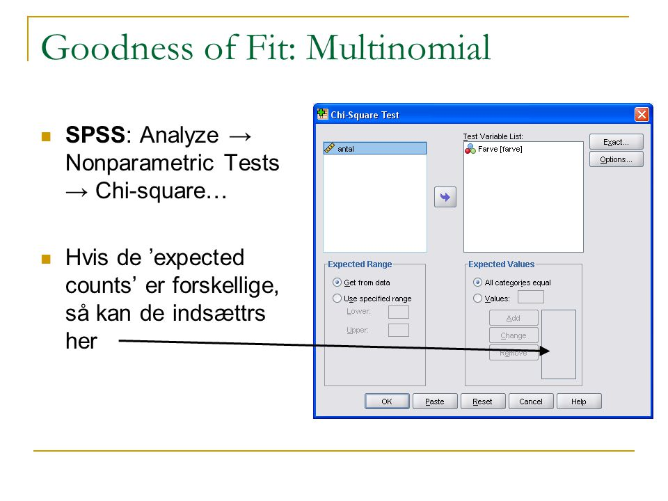 Goodness of Fit: Multinomial
