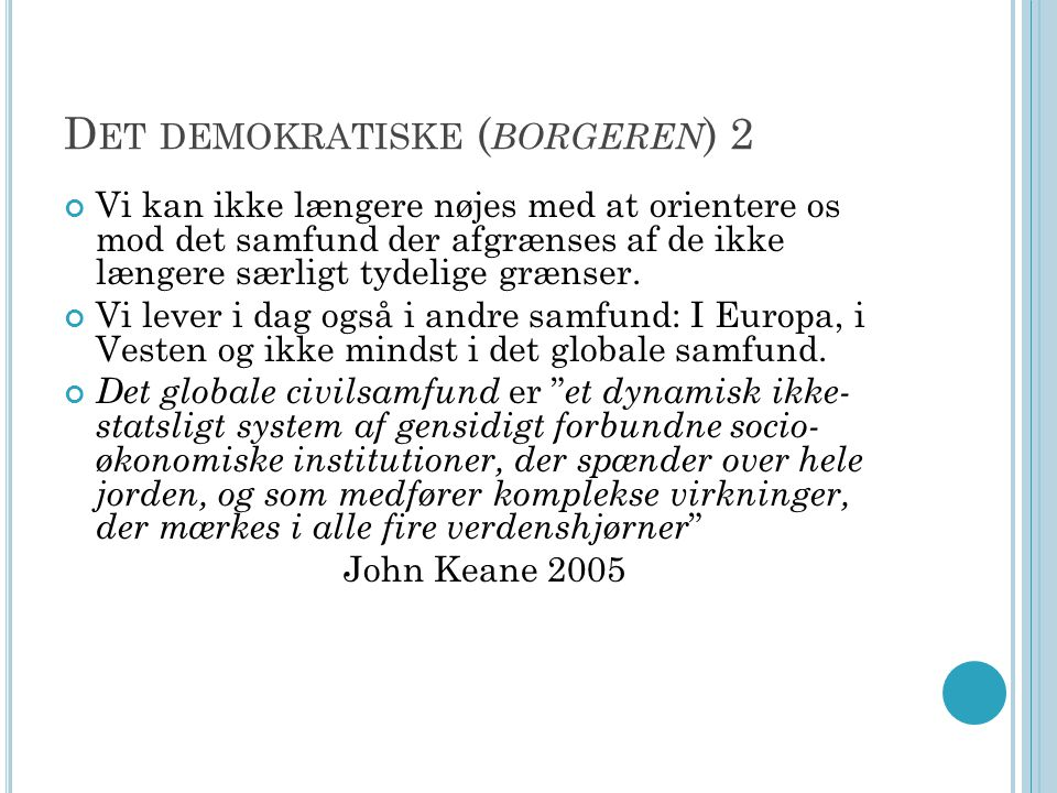 Det demokratiske (borgeren) 2
