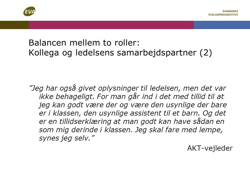 Balancen mellem to roller: Kollega og ledelsens samarbejdspartner (2)