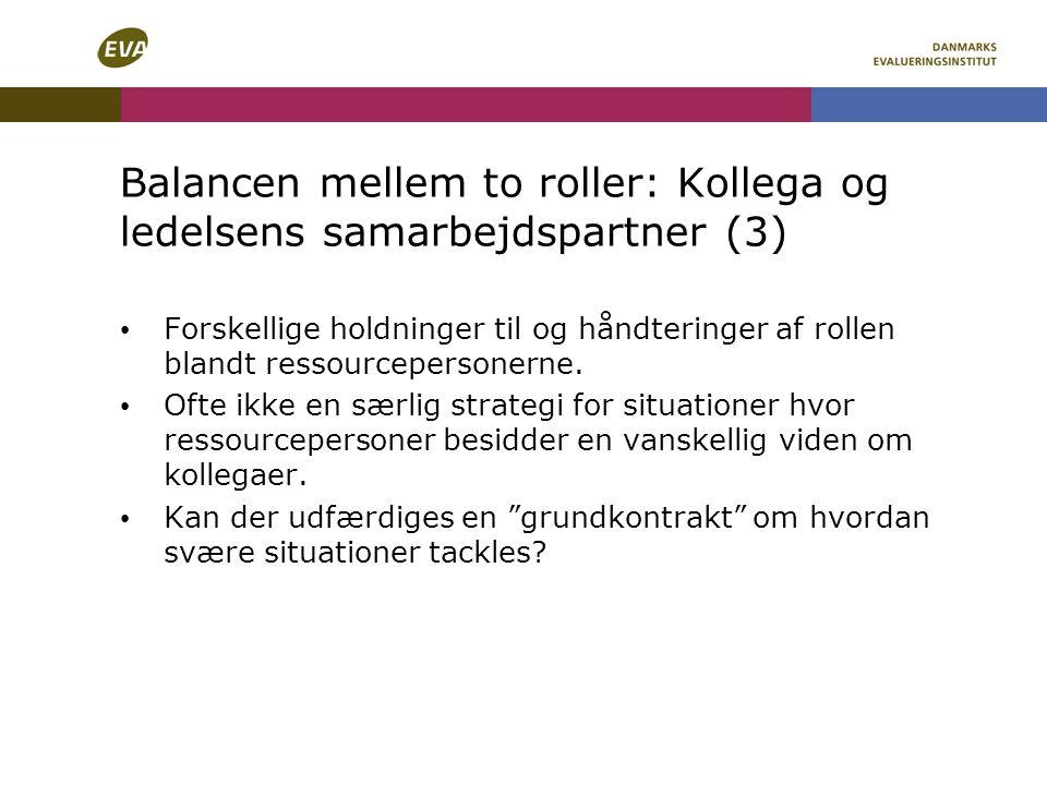 Balancen mellem to roller: Kollega og ledelsens samarbejdspartner (3)