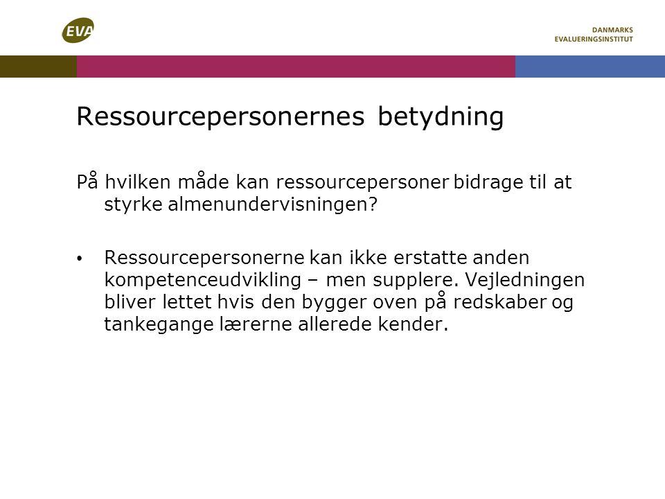 Ressourcepersonernes betydning
