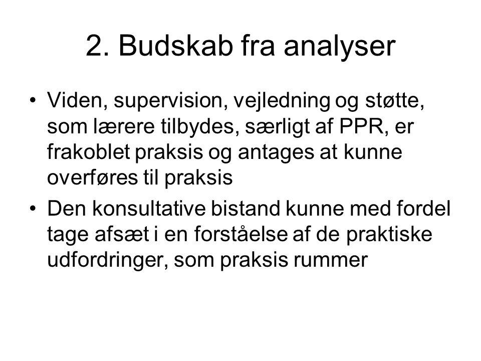 2. Budskab fra analyser