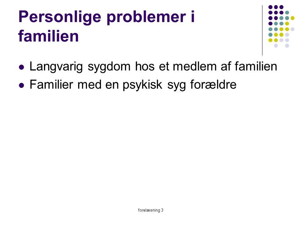 Personlige problemer i familien