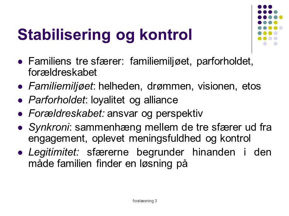 Stabilisering og kontrol