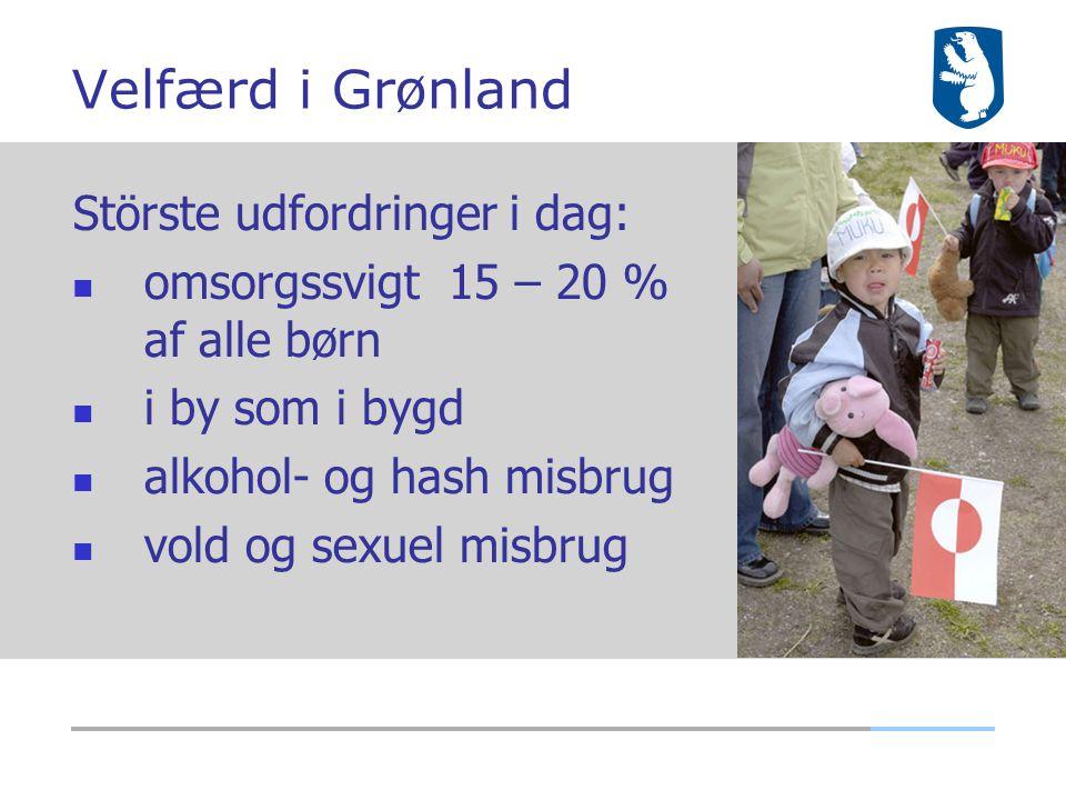 Velfærd i Grønland Störste udfordringer i dag: