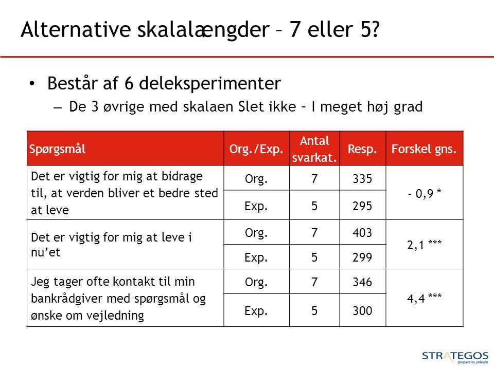 Alternative skalalængder – 7 eller 5